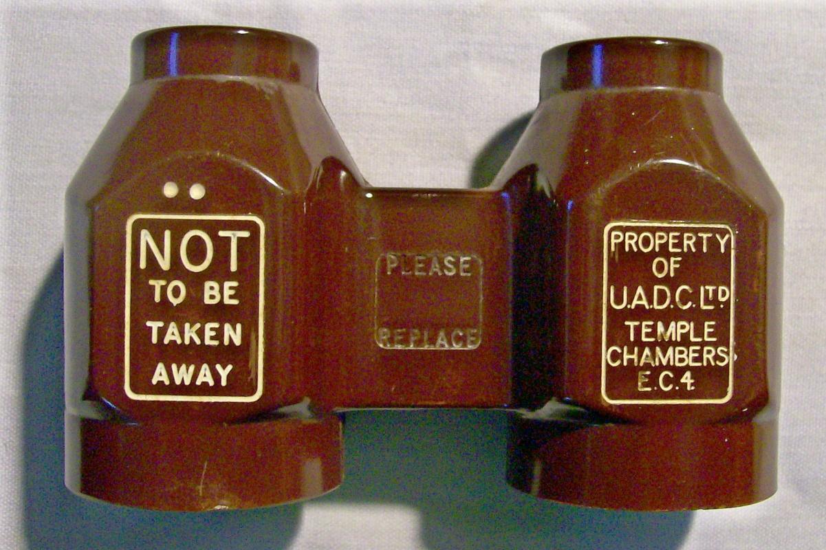 Vintage Bakelite Theater Binoculars Temple Chambers London Fixed Focus
