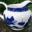 Vintage Laughlin Blue Willow Jug/Pitcher 28 Oz. Ca. 1947