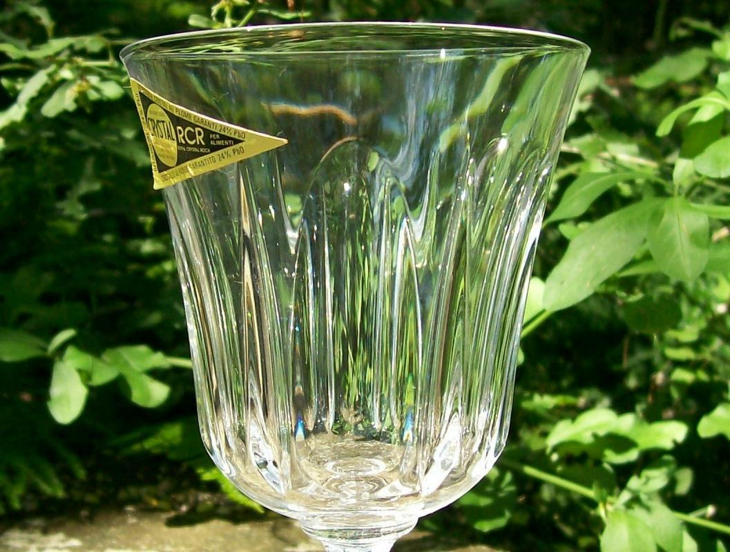 Vintage Royal Crystal Rock Victoria Wine Goblet Set/4 6