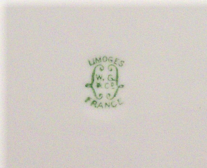 Vintage Guerin Art Deco Tray Split-Handle Limoges Signed 11