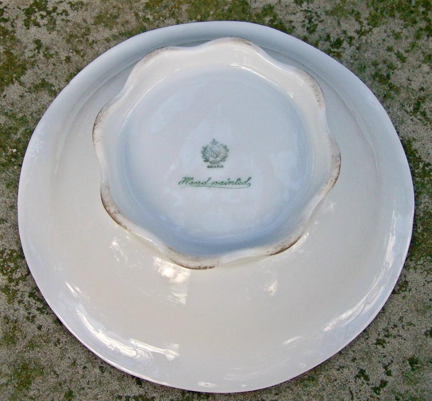 Antique P.T. Bavaria/Tirschenreuth Footed Bowl Grape Decal 8.5