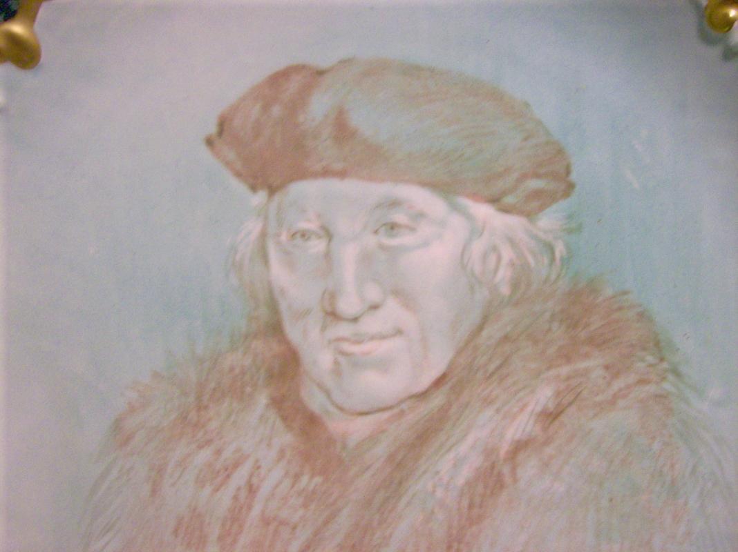 Antique Flambeau Limoges Portrait Charger Signed Dubois 1890-1914 12 3/8
