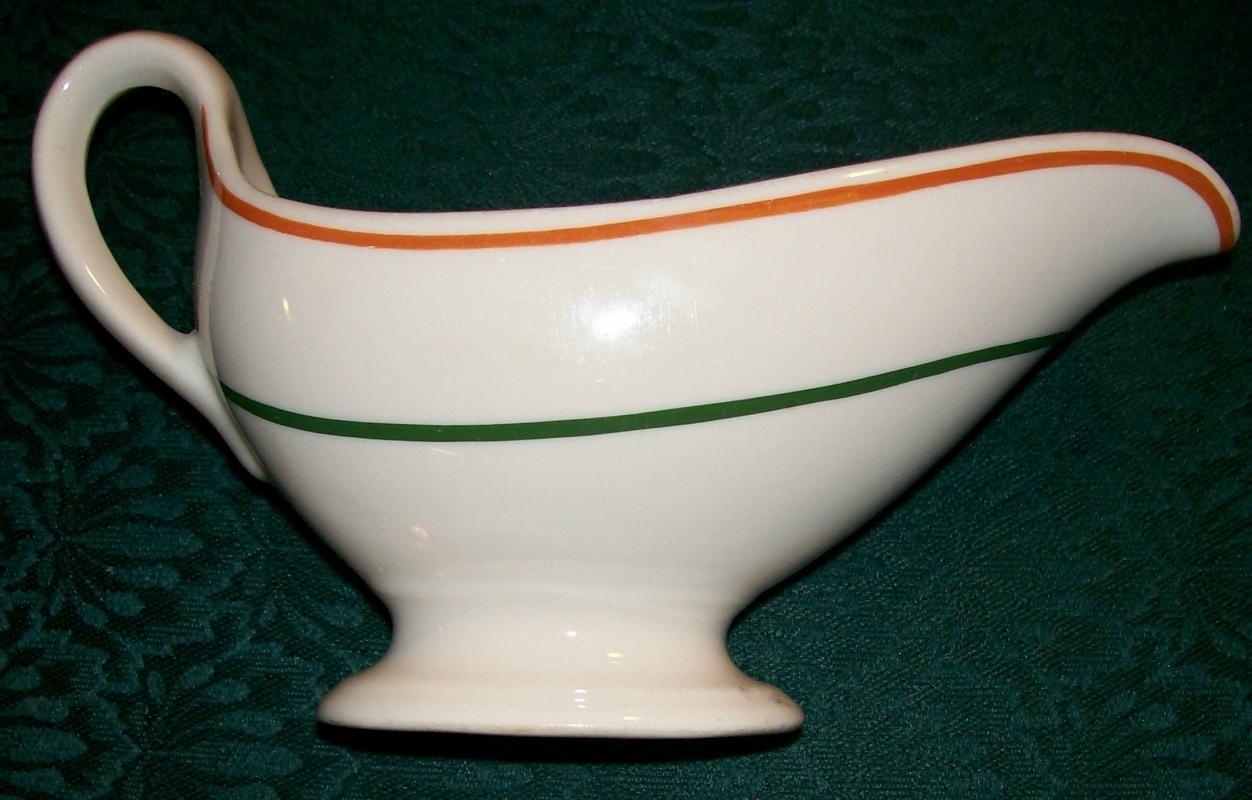 Webber College Florida Ceramic Restaurant Ware Sauce/Gravy Boat Syracuse