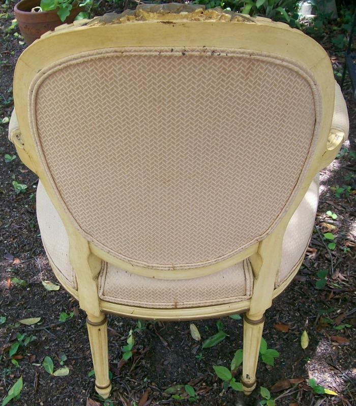 Antique French Arm Chair: Louis XVI Style AS IS