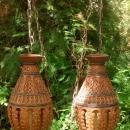 Vintage Mediterranean Style Hanging Lamp Pair 1960s Rewired
