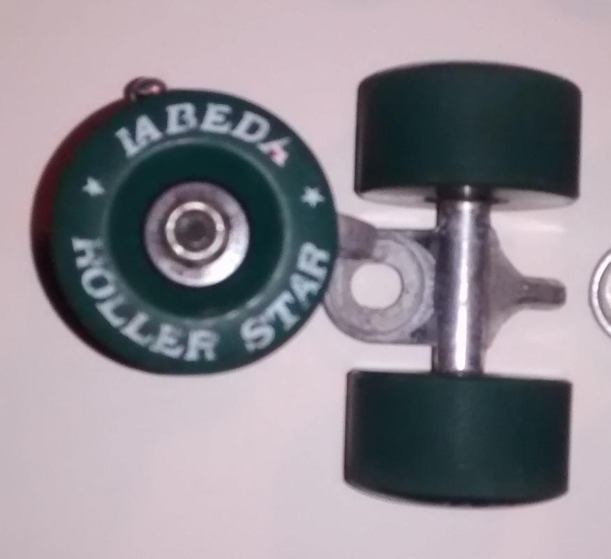 La Beda Roller Star Skate Wheel Set Vintage 70s Teal
