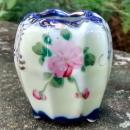 Nippon/Japan Cobalt & Roses Porcelain Toothpick Holder 2.75