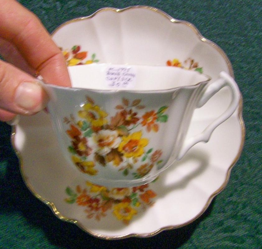 Heritage Bone China Cup & Saucer #921 England