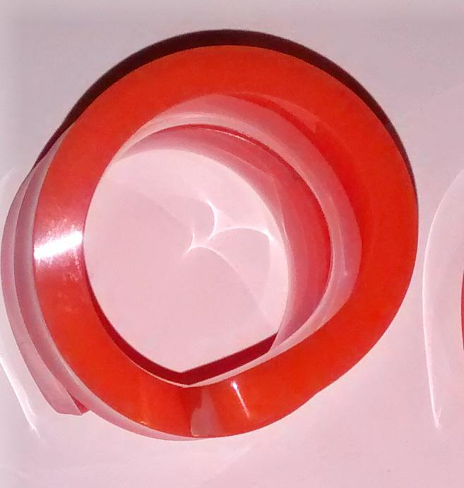 Vintage Orange Acrylic Spiral Napkin Ring Set/6