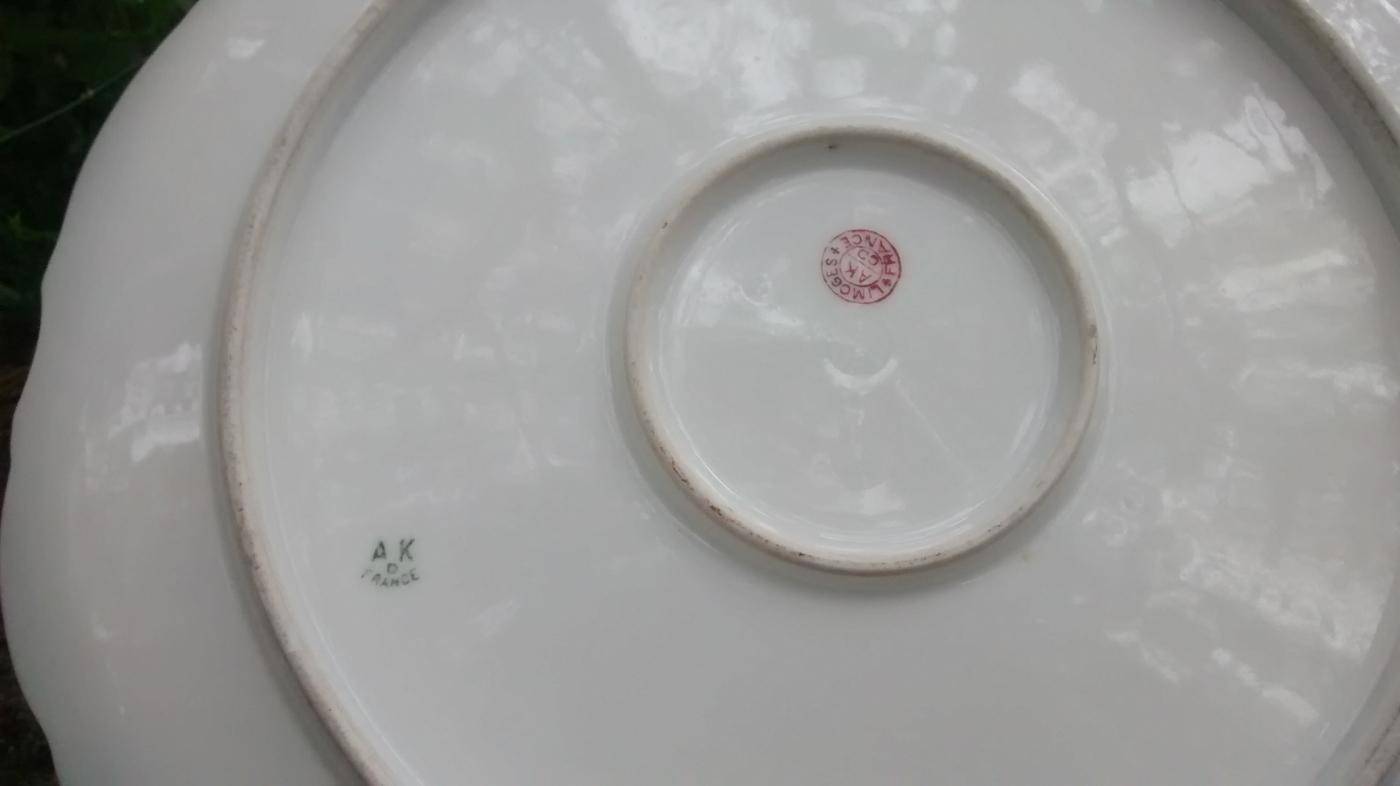 Antique Klingenberg Limoges Charger / Plate 1890s 12.5