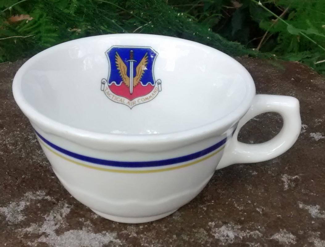 Vintage Tactical Air Command Cup Syracuse Restaurant Ware 1963
