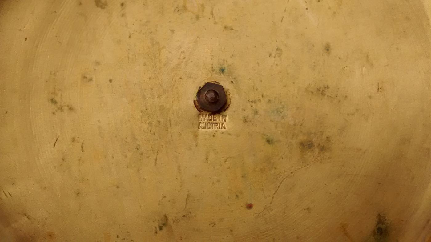 Antique Austrian Guilloche Enamel Dresser Jar Engraved Crystal 1890s-1920s