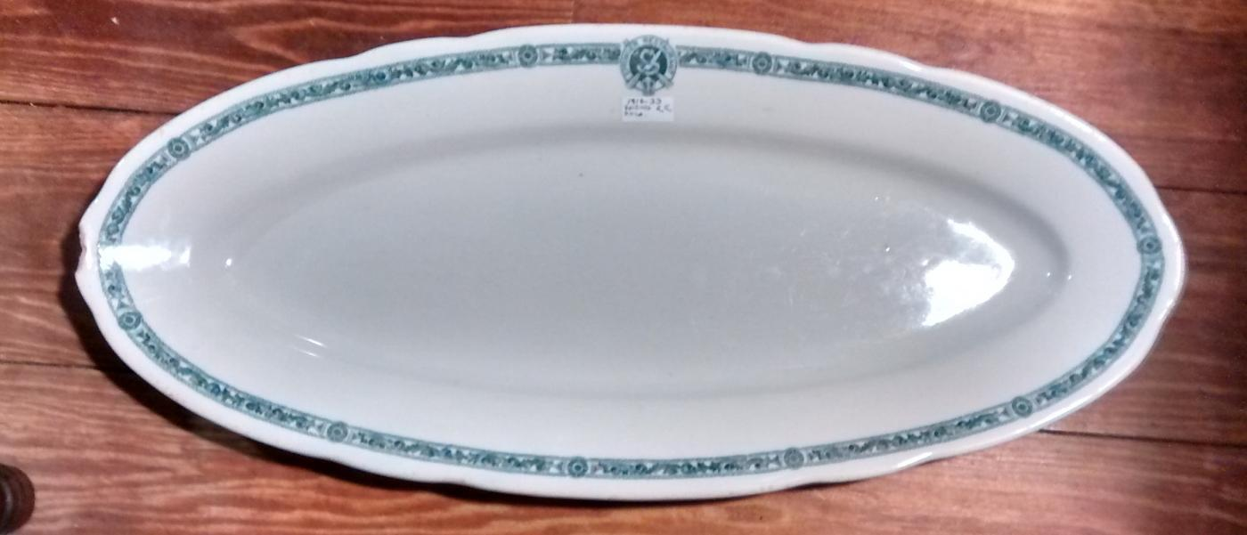 Antique Reading Railroad Terminal Philadelphia Springer Restaurant Fish Platter 1910-33 AS IS