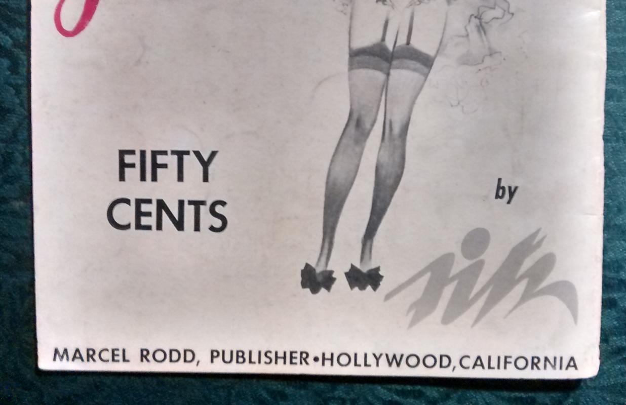 Vintage Art of Fitz Portfolio No. 2/ 50 Girls 1943 Nude Hollywood Pin-Up Art