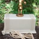 Bowling Trophy Pennwood Numechron Clock 1950s Ivory/Gold Electric Flip