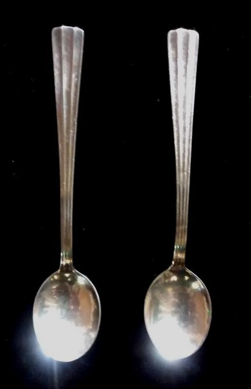 J. Axel Jansson Demitasse Spoon Pair Sweden Scandinavia