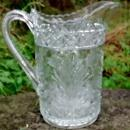 Indiana Horsemint Early American Pattern Glass Pitcher 8.25