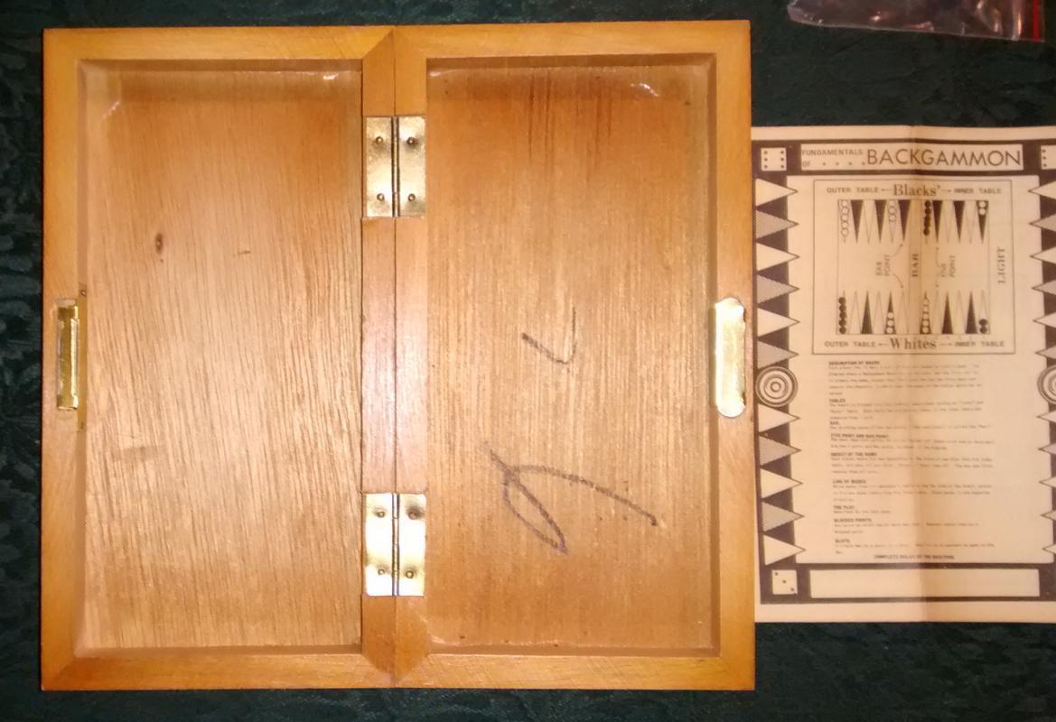 Vintage Chadwick Magnetic Backgammon Set Complete 1973 #92075