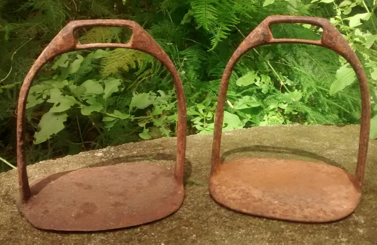 Antique Iron/Steel Horse Stirrups Early 1900s