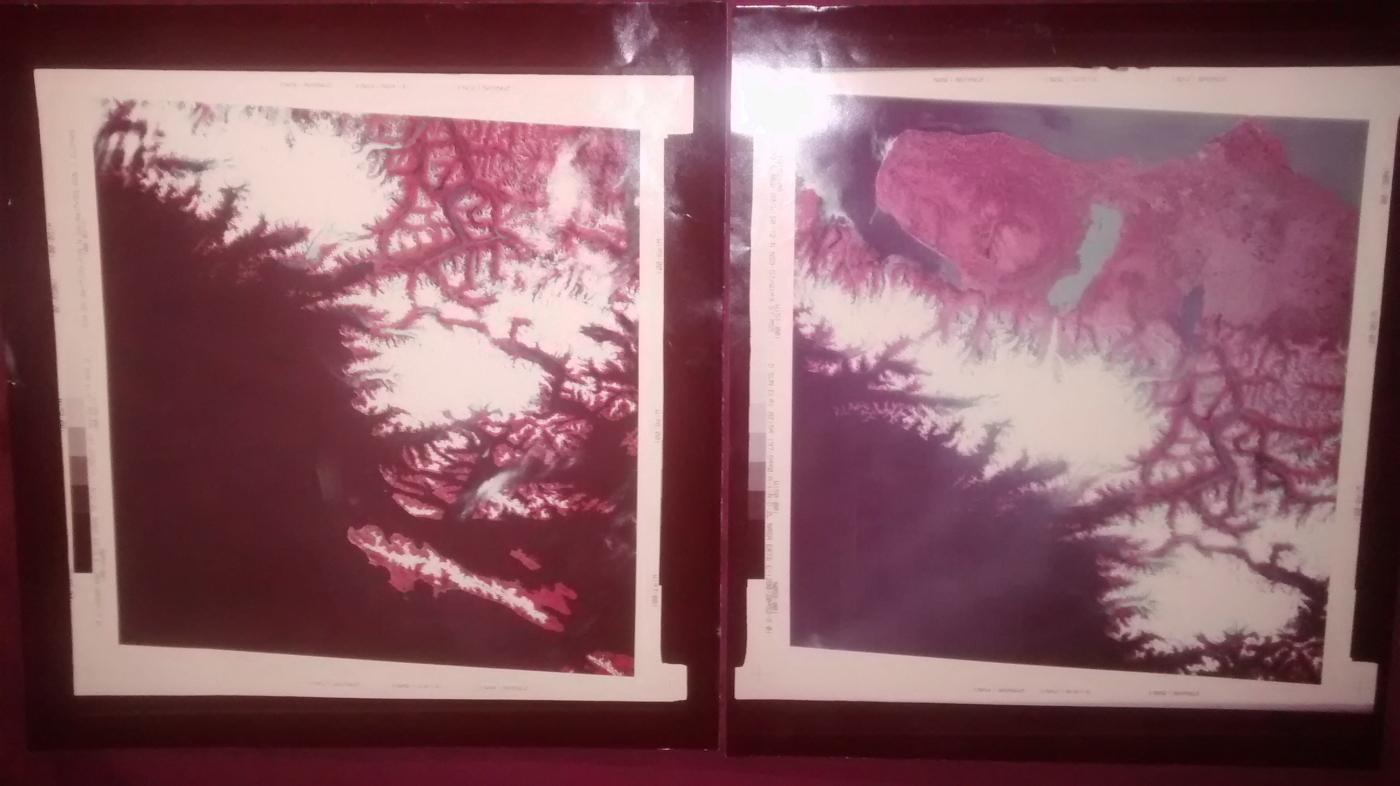 Vintage NASA ERTS 1973 Photo Pair Genuine Satellite Consecutive Images Alaska