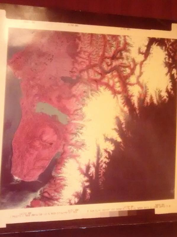 Vintage NASA ERTS 1973 Photo Pair Genuine Satellite Consecutive Images Alaska