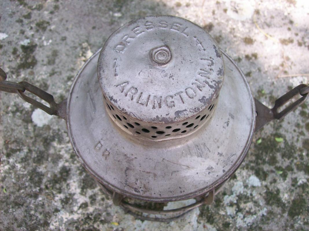 Vintage Burlington Route Railroad Lantern Ca. 1939 Dressel Original Globe