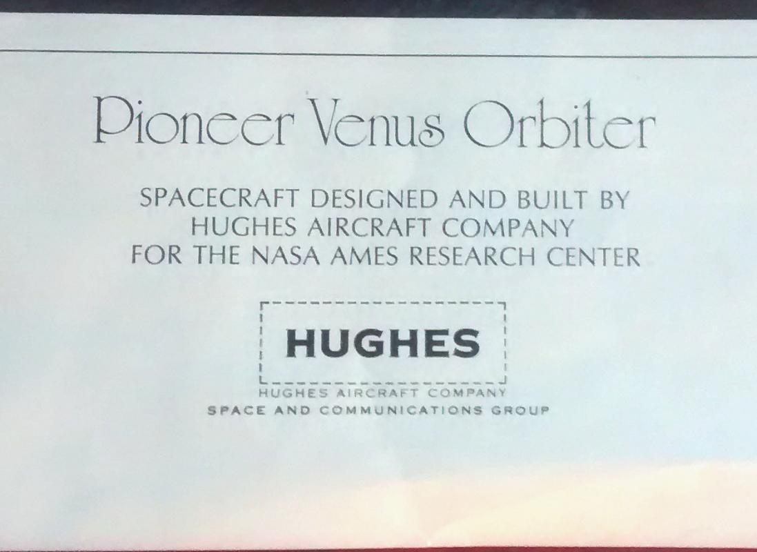 Hughes Aircraft Pioneer Venus Orbiter Poster Ames 1970s 18