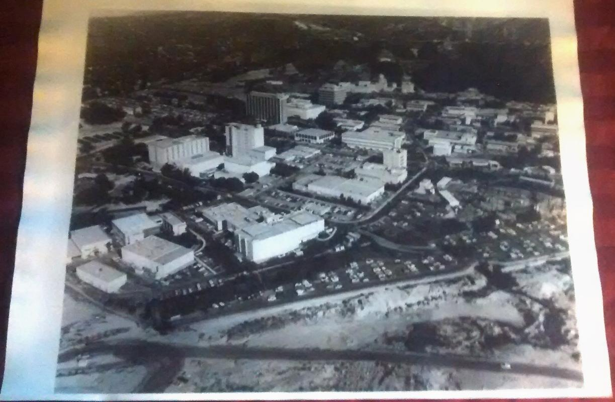 Original Aerial Photo Print JPL Jet Propulsion Lab 1970s Space Program