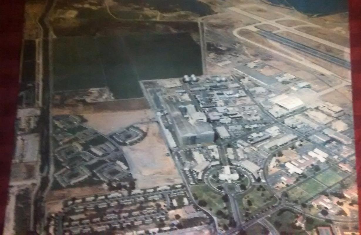 Original Aerial Photo Print NASA Ames Research Center 1970s Space Program