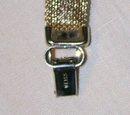 Vintage Weiss Austrian Rhinestone Bracelet w/ Mesh Orange/Amber 1950s MCM