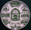 Harrisburg Pennsylvania Centennial Ceramic Plate 1960 Green 10
