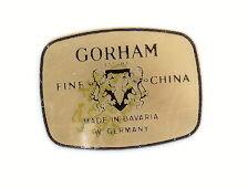 Vintage Gorham Cobalt Columbine W. German China Set- Mint Ca. 1978