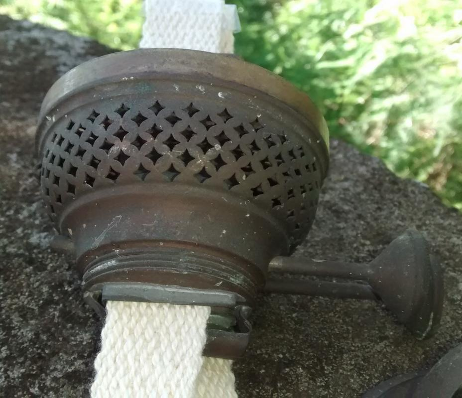 Victorian Duplex Oil Lamp Burner 1800s Brass