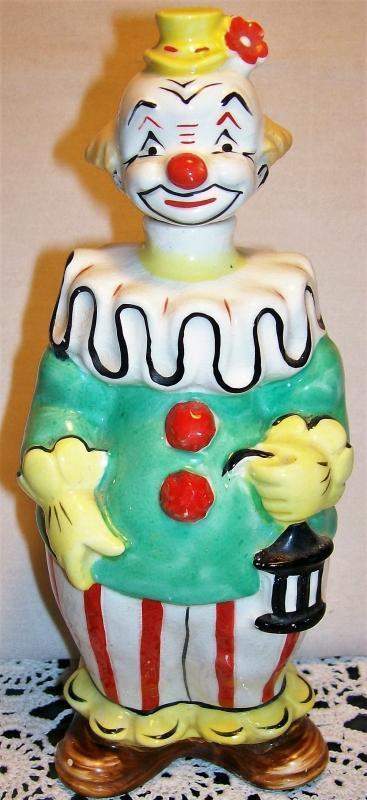 Vintage Mid-Century Clown Liquor Decanter Figural Bar-Ware 8