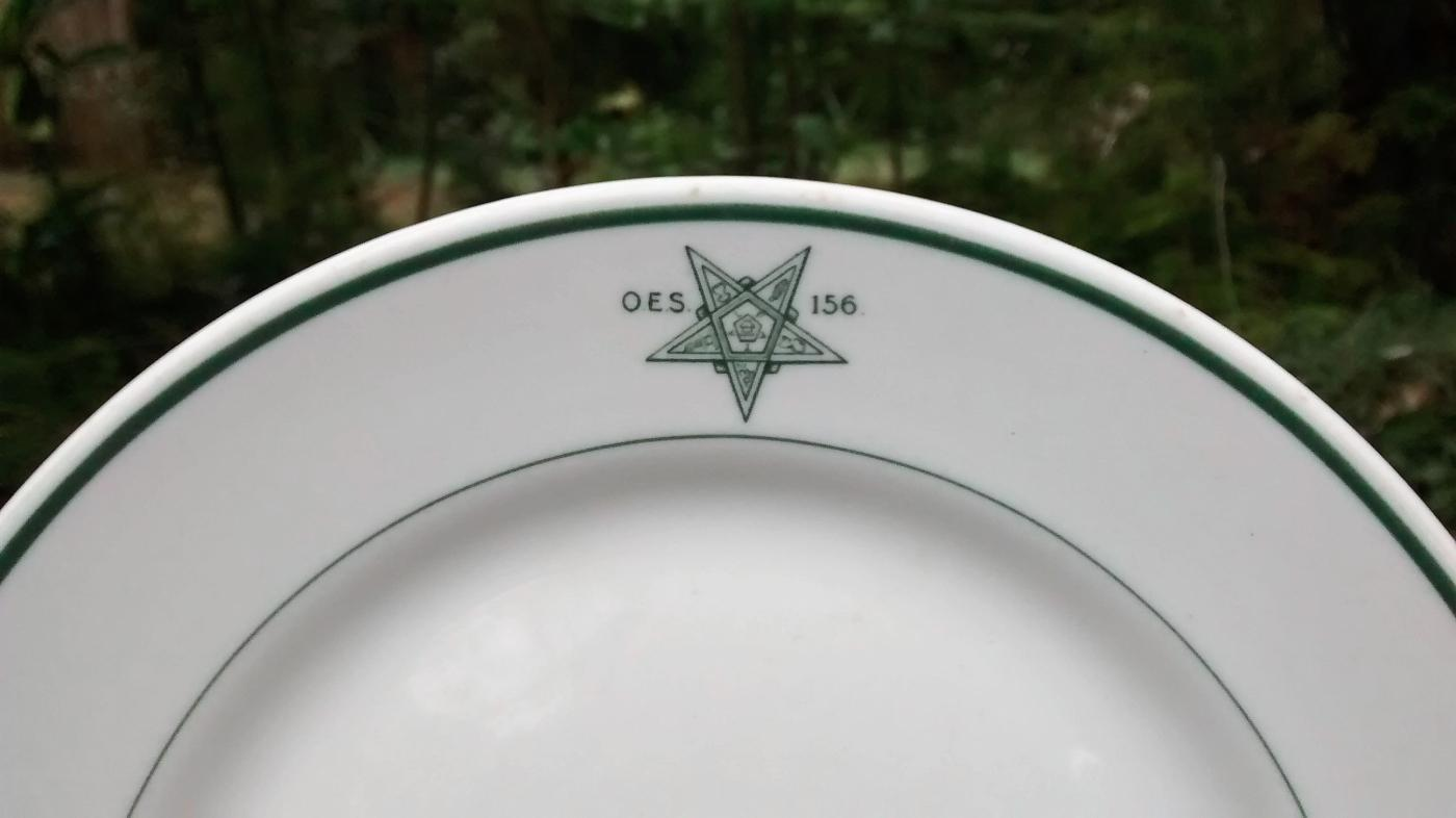 Vintage Eastern Star Lodge #156 Plate Mayer 1920s-30s 9