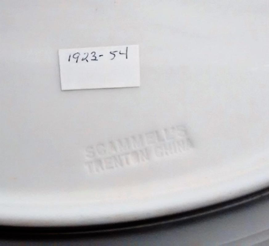 Vintage Scammell Omaha Deco Platter 1923-54 Restaurant Ware 12.25