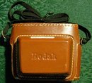 Vintage Kodak Automatic Camera 35B w/Leather Case 1961-62