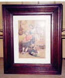 Antique Charles Stanley Reinhart Lithograph Barber 1881