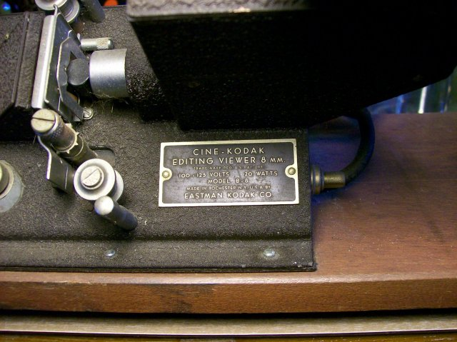 Vintage Cine-Kodak Senior Editor for 8mm Film & Splicer 1940's