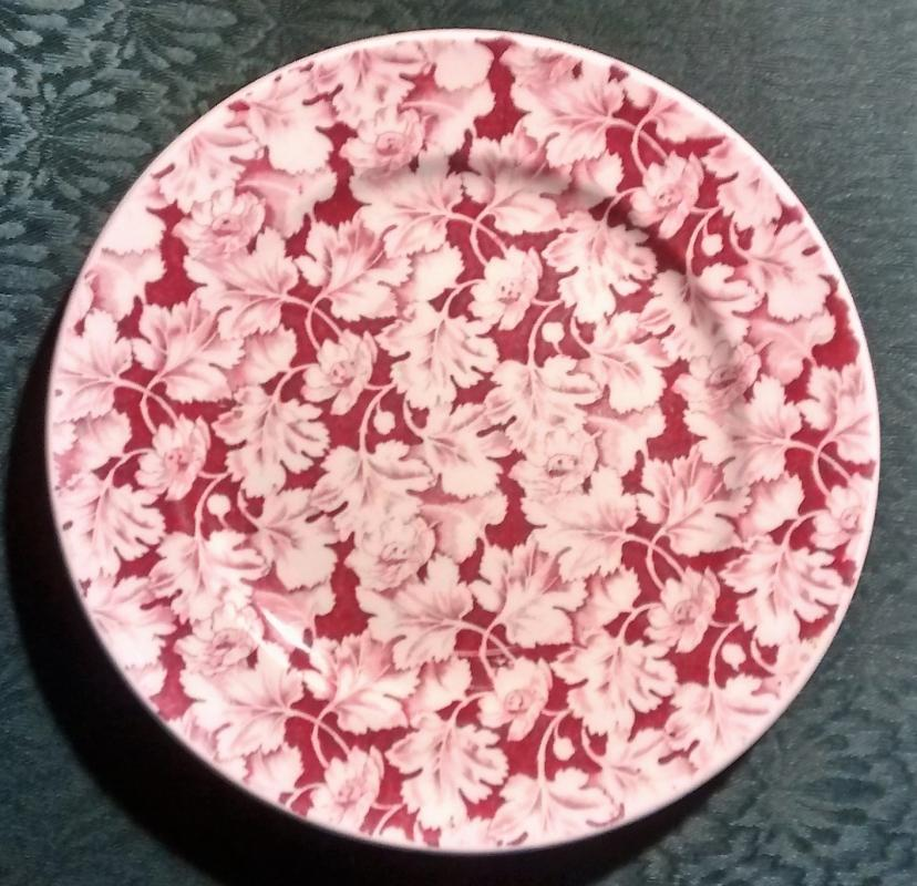 Mayer Arbor / King Pin Plate 40s-60s Restaurant China Red/White 9