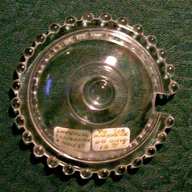 Vintage Imperial Candlewick Marmalade/Condiment Lid w/Cut-Out Clear