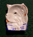Vintage Terrier Dog Ashtray Japan Luster 1930s
