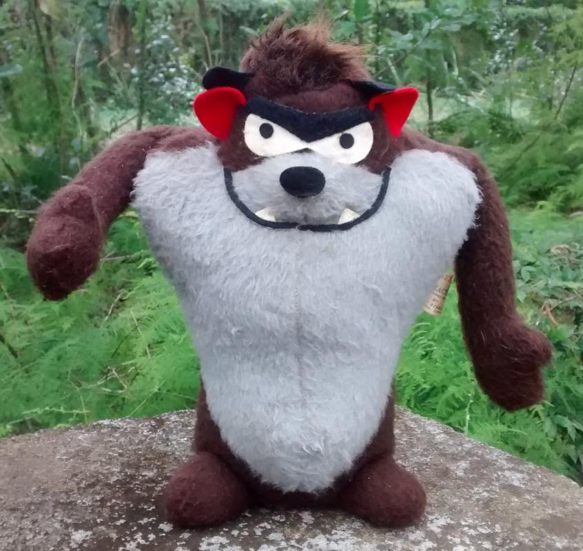 Vintage Taz Tasmanian Devil Plush Toy Warner Brothers 1971 Mighty Star