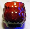 Vintage Hocking Bubble/Provincial Ruby Tumbler Red Glass 3