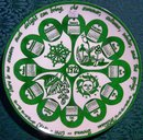 1972 Calendar Plate Mount Clemens China William Browne 10.5