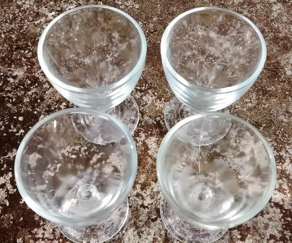 Vintage Hazel Atlas Wine Glass Set/4 #110 1930s Clear 3 1/8