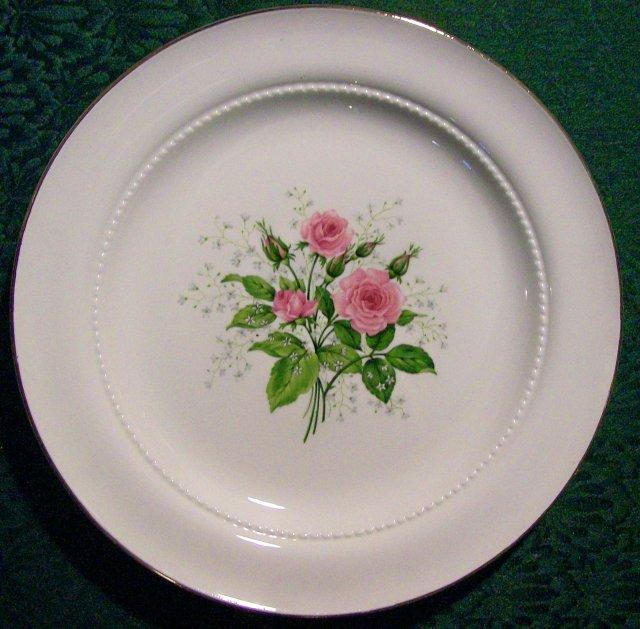 Hall China Heather Rose Plate 10 1/8