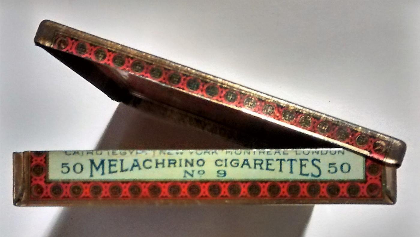 Melachrino Egyptian Cigarette Tin No. 9 1920s