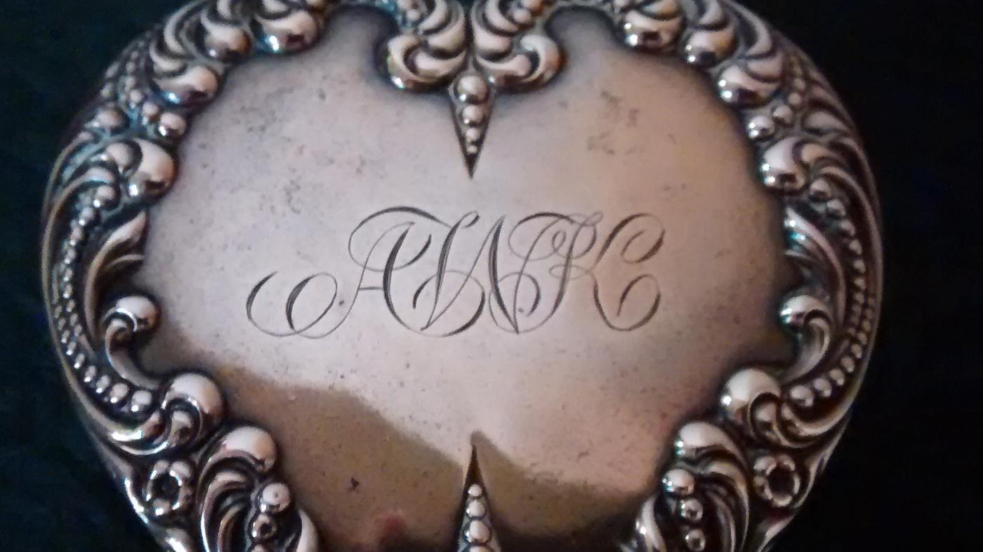 Antique Foster & Bailey Heart-Shaped Box Sterling Silver & Crystal   Ca. 1900