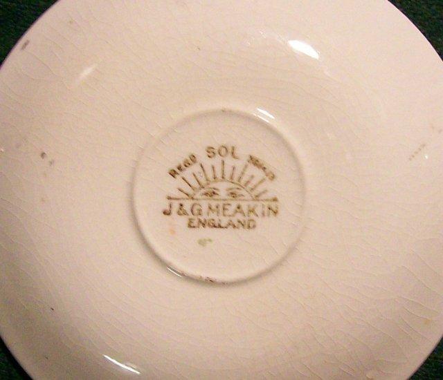 J. & G. Meakin Ceramic Demitasse Cup & Saucer MEK75